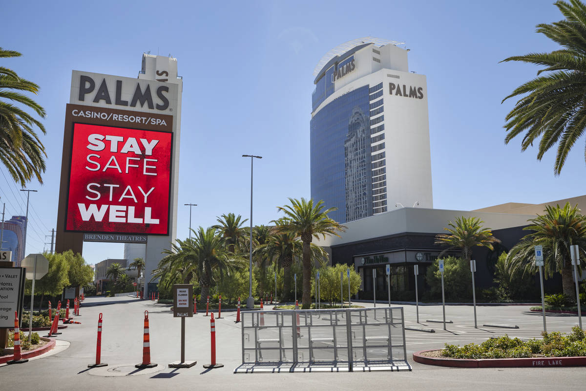 A view of the Palms is seen in Las Vegas on Wednesday, Aug. 12, 2020. (Elizabeth Brumley/Las Ve ...