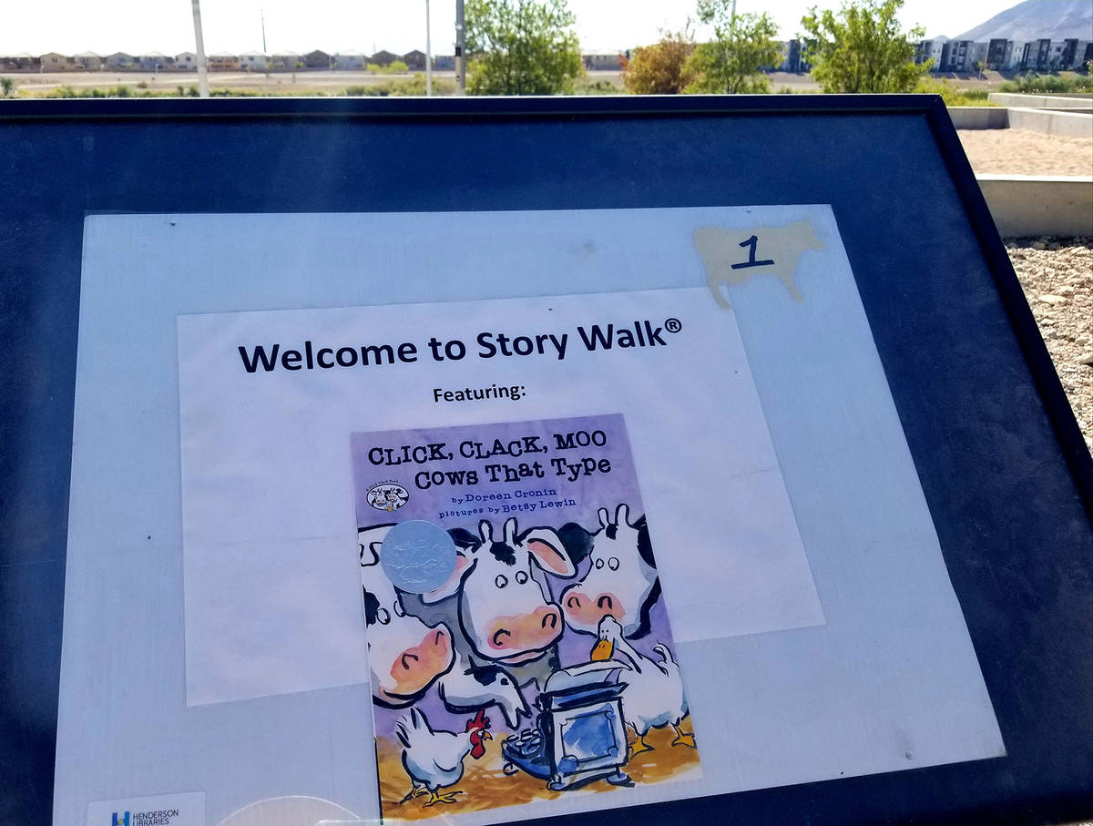 """New """"Click, Clack, Moo"""" story pages were added in July to Cornerstone Park's """"Story Wal ..."""