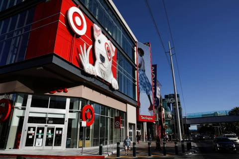The exterior of Target on the Strip ahead of the store's opening on Monday, Aug. 10, 2020 in ...