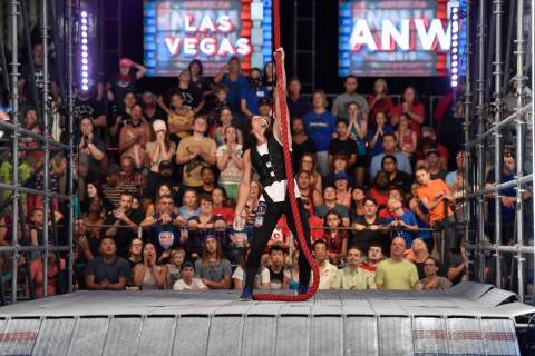 "AMERICAN NINJA WARRIOR - ""Las Vegas National Finals Night 4"" Episode 1116 - Pictured: Daniel Gi ..."