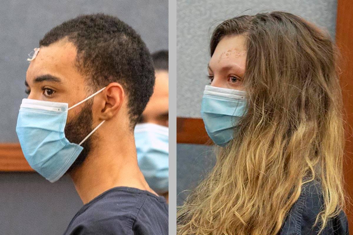 Cameron Hubband-Jones, left, and Lauren Prescia. (Las Vegas Review-Journal)