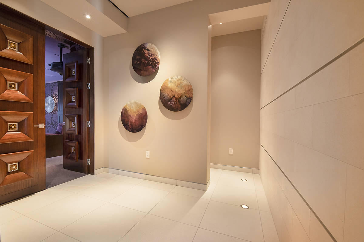 The foyer to the home theater. (Synergy Sotheby's International Realty)
