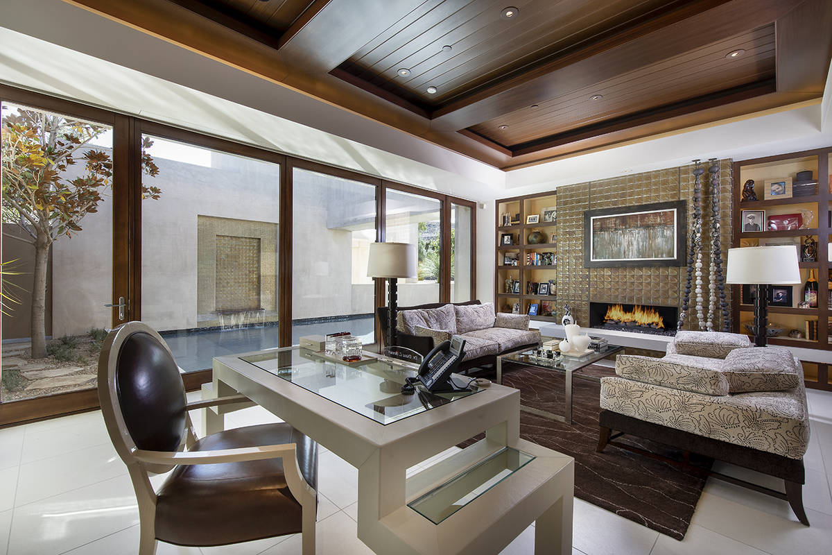 The home has a large office. (Synergy Sotheby's International Realty)