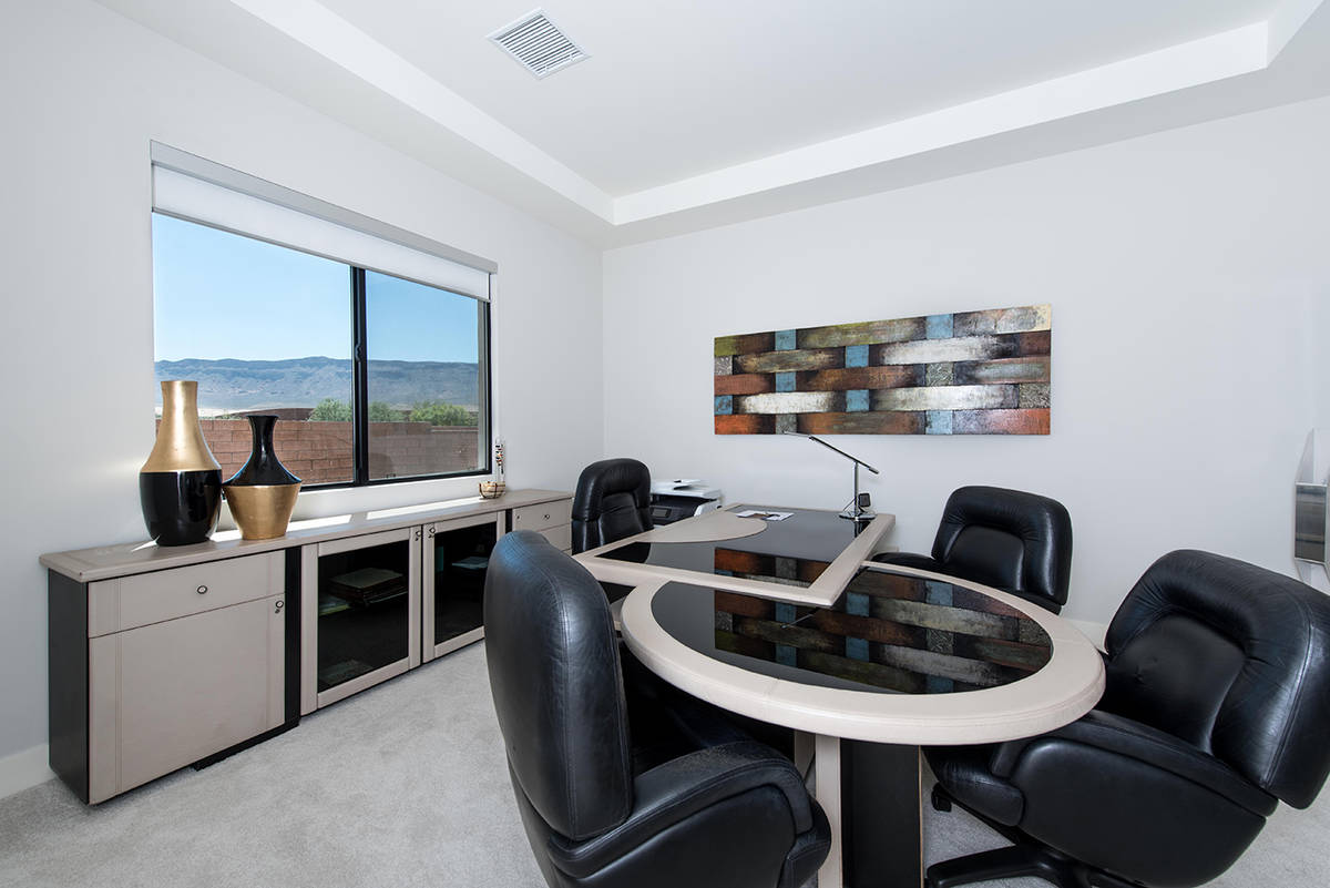 Vegas Golden Knight right wing Alex Tuch's new $2.35 million Summerlin home features a large of ...