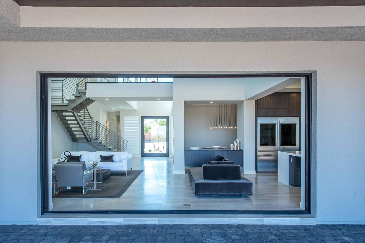 Alex Tuch's Summerlin golf-course home built in 2016 measures 4,888 square feet with five bedro ...