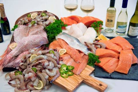 The 21-Day Seafood Habit is scaled to serve two (alcohol not included). (Landry's)
