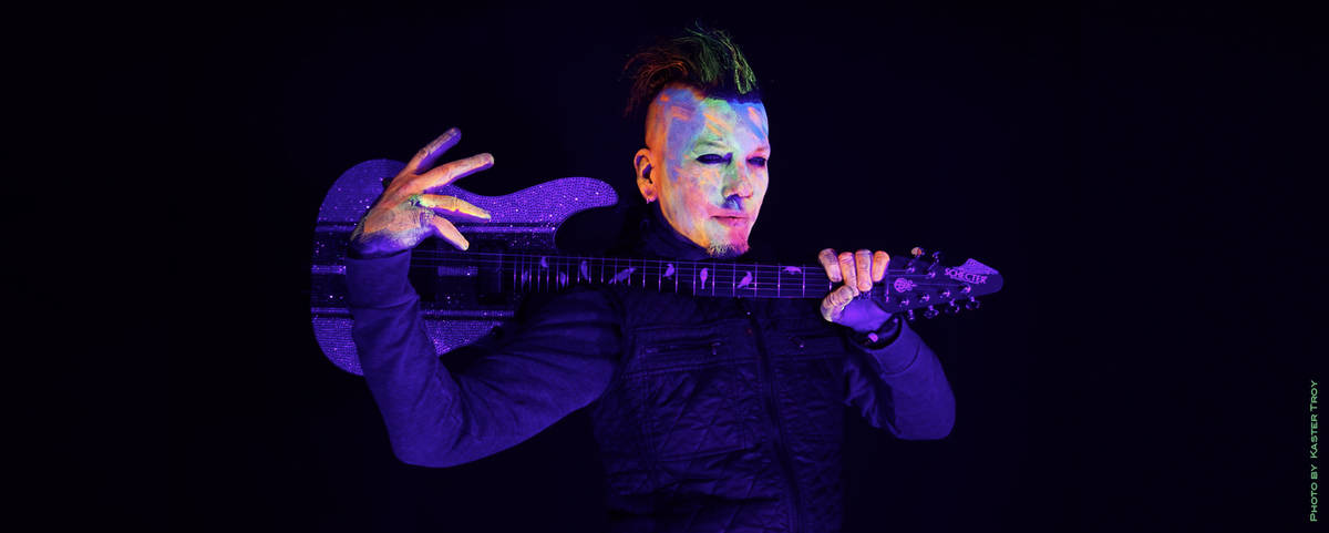 """DJ Ashba is shown in a promotional photo for """"Hypnotic,"""" featuring Cali Tucker, an EDM track th ..."""