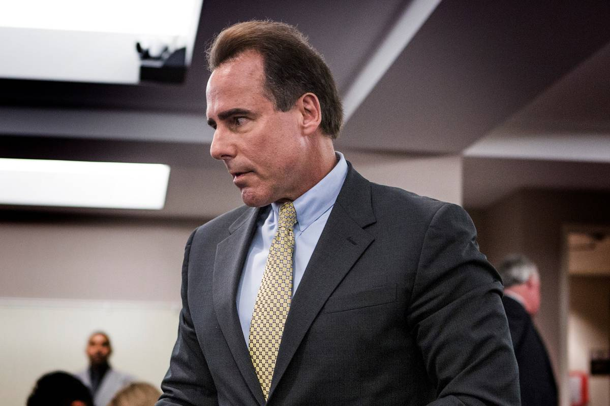 Mark Frissora, seen in 2016 when he was CEO of Caesars Entertainment Corp. (Las Vegas Review-Jo ...