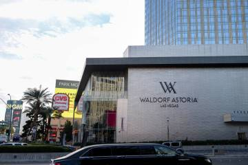 The Waldorf Astoria, seen here in Las Vegas on Monday, Dec. 17, 2018, warned the state on July ...