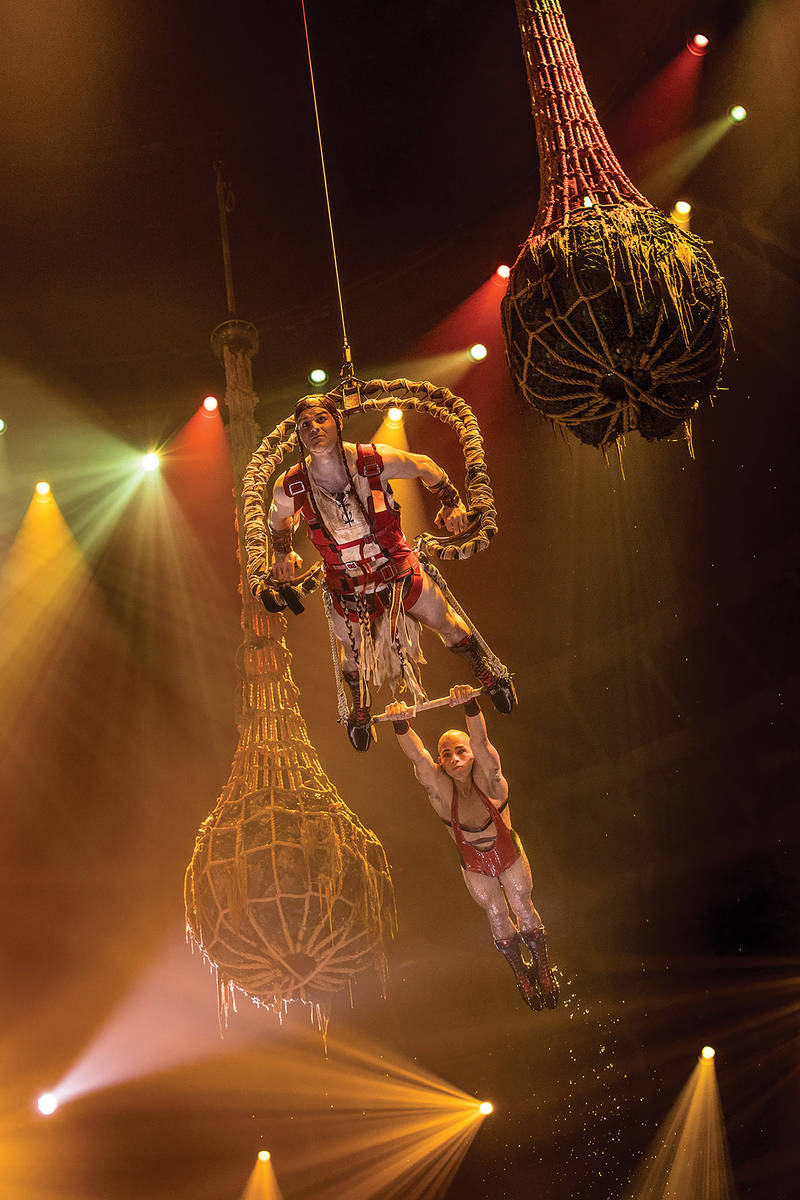 """A scene from """"Le Reve,"""" recently revamped at Wynn Las Vegas. (Tomasz Rossa)"""