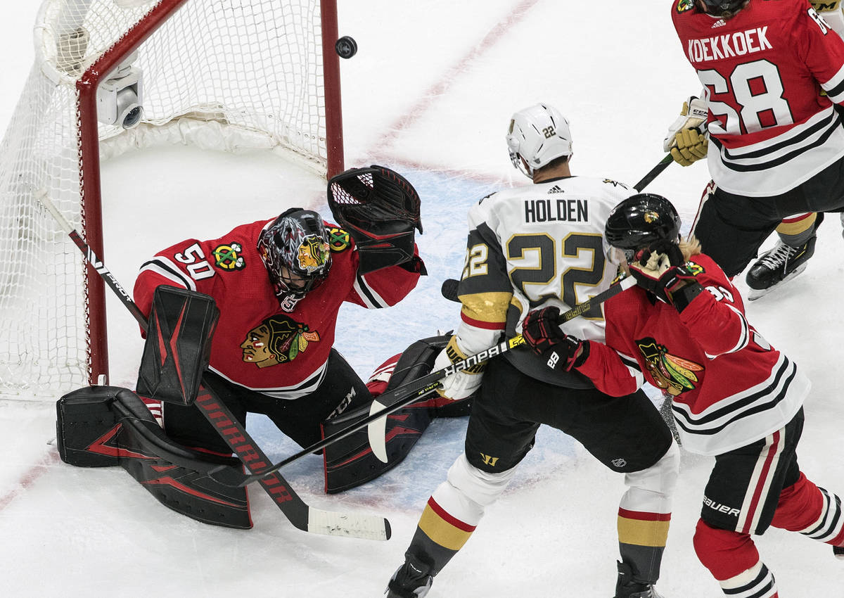 Corey Crawford S Heroics Against Golden Knights Delay Inevitable Las Vegas Review Journal