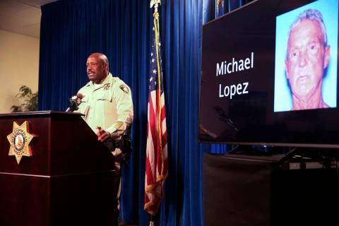 Las Vegas police Assistant Sheriff Tim Kelly briefs the news media at Metropolitan Police Depar ...
