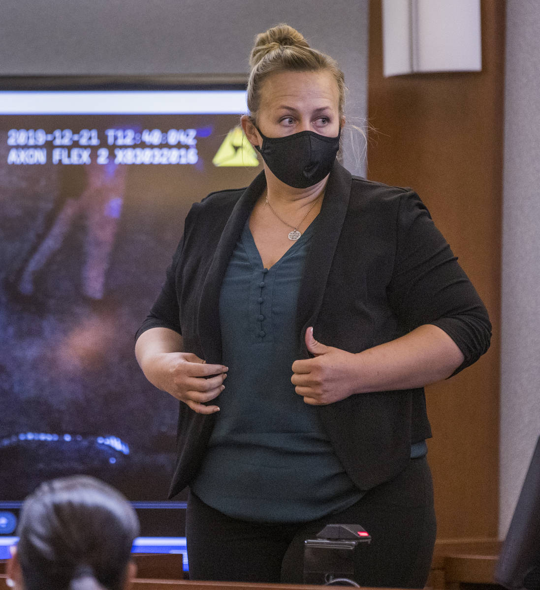 Senior Crime Scene Analyst Noelle Herring with Metro police prepares to answer questions as a w ...