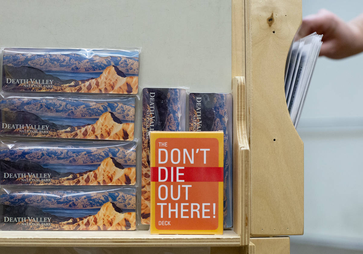 """The bookstore at Furnace Creek Visitor Center sells a deck of cards with """"Don't Die Out There!"""" ..."""