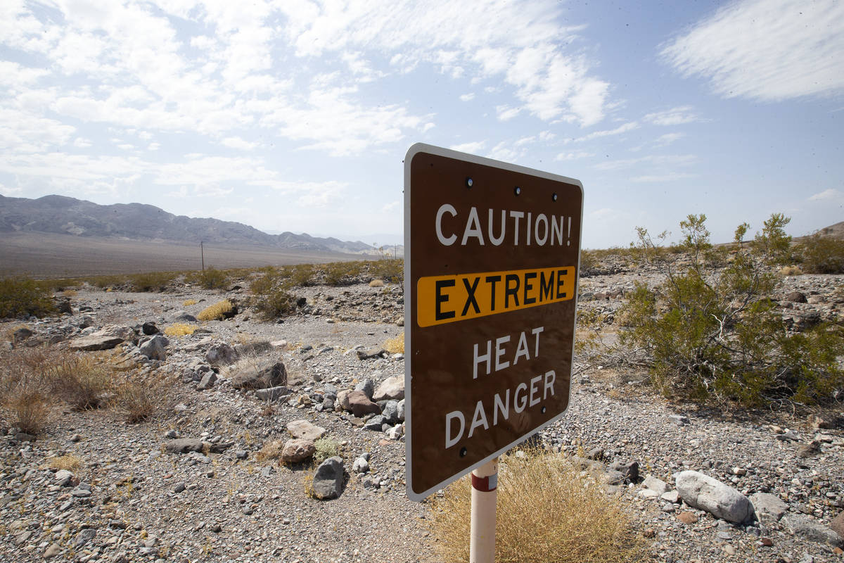 Death Valley National Park reached 127 degrees, coming close to the 1913 record of 134 degrees, ...