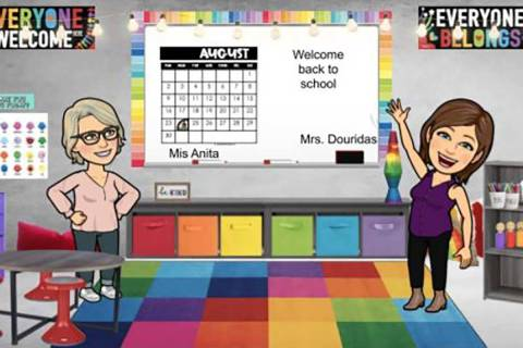 This screenshot shows a virtual classroom in Canvas, created by a teacher at Thompson Elementar ...