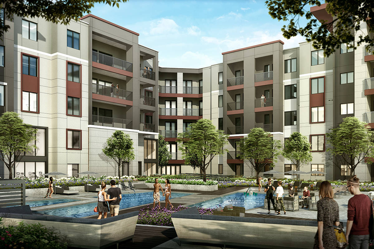 Las Vegas developer The Calida Group plans to open the 368-unit Elysian at Hughes Center apartm ...