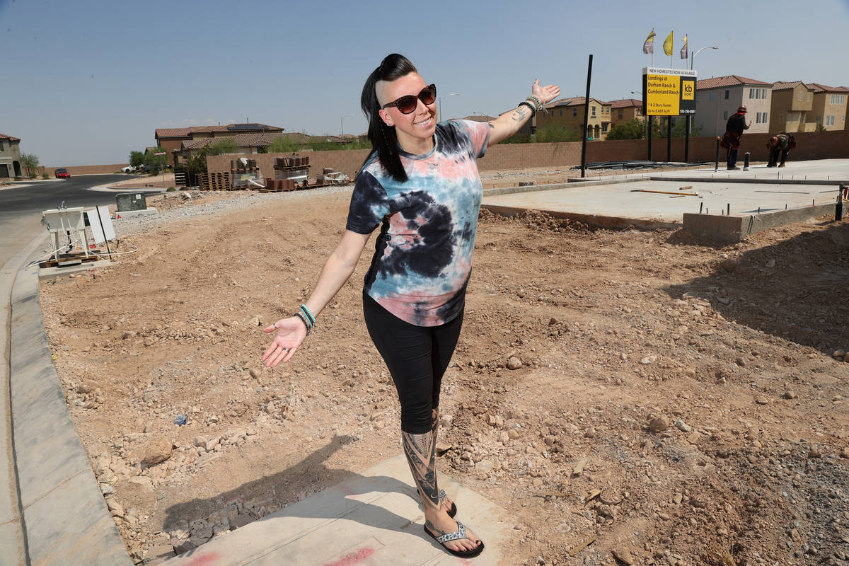 Veronica Markowsky, who is under contract to buy a newly built house near S Fort Apache Road an ...