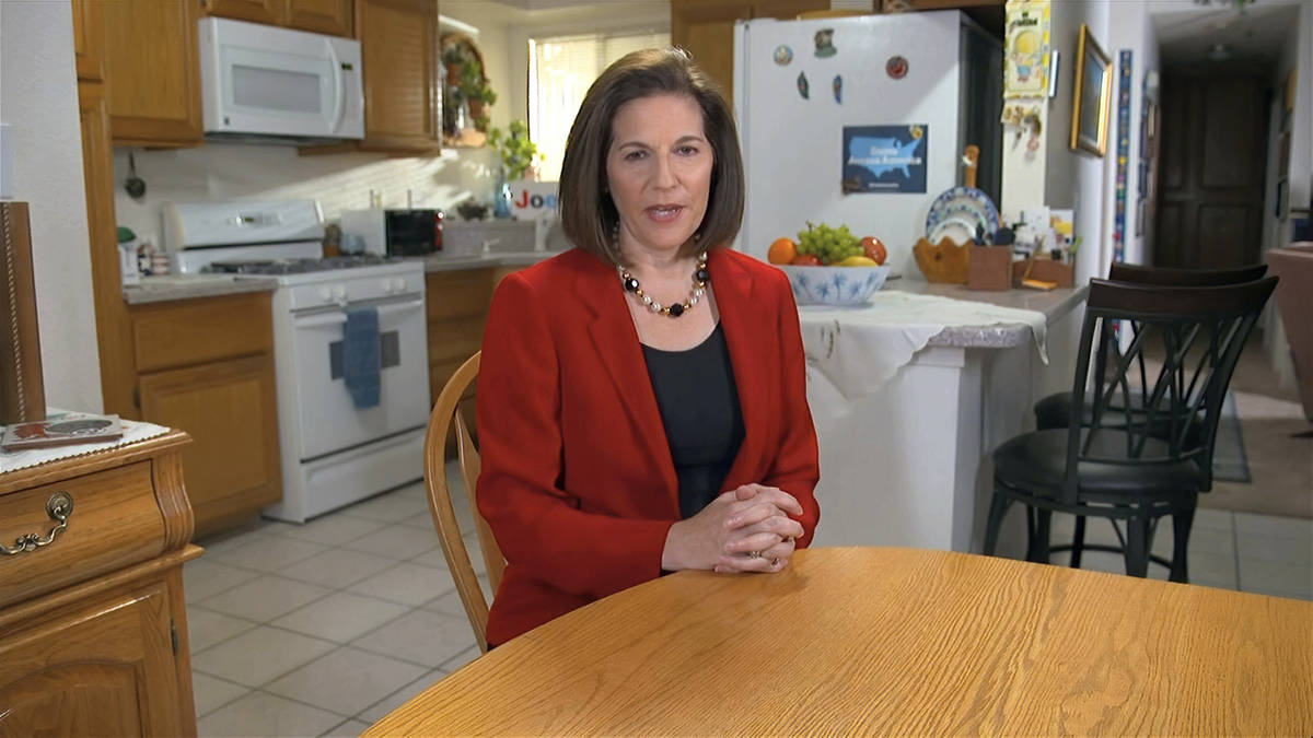 In this image from video, Sen. Catherine Cortez Masto, D-Nev., speaks during the first night of ...
