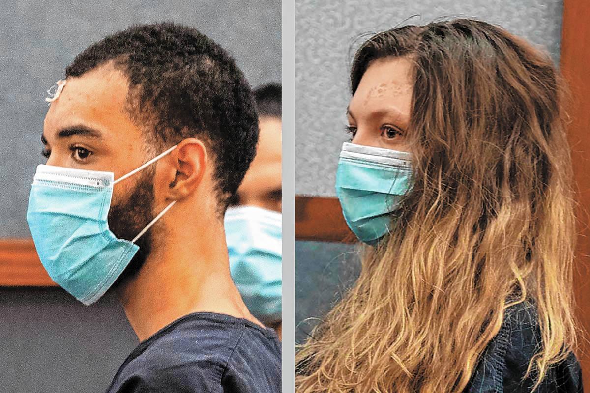 Cameron Hubband-Jones, left, and Lauren Prescia. (Las Vegas Metropolitan Police Department)