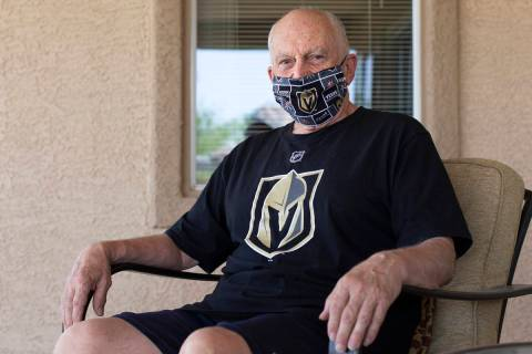 Robert Leclerc, who has lived in the same city as the Stanley Cup winner 24 times, poses for a ...