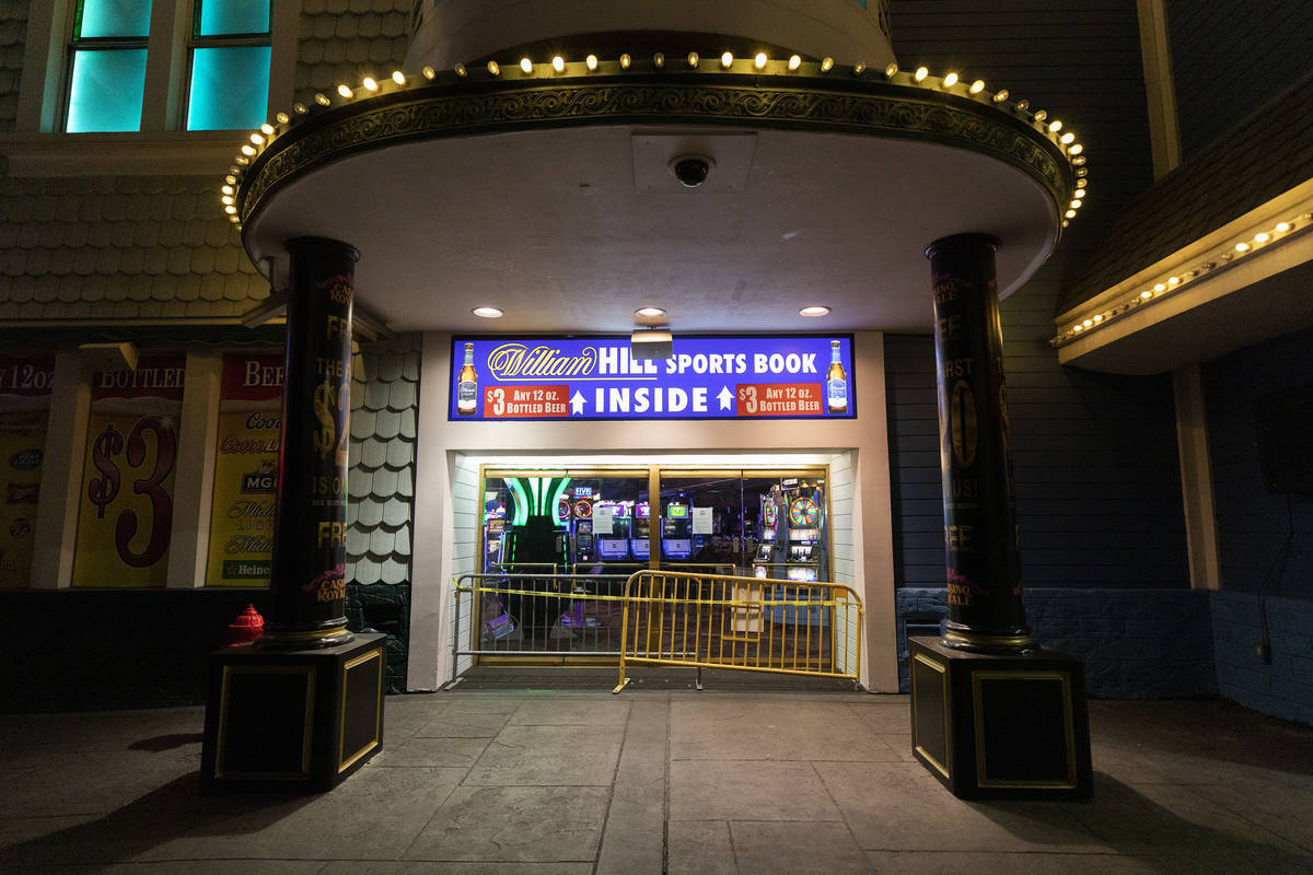 Casino Royale is closed amid coronavirus nonessential business closures on Wednesday, April 8, ...