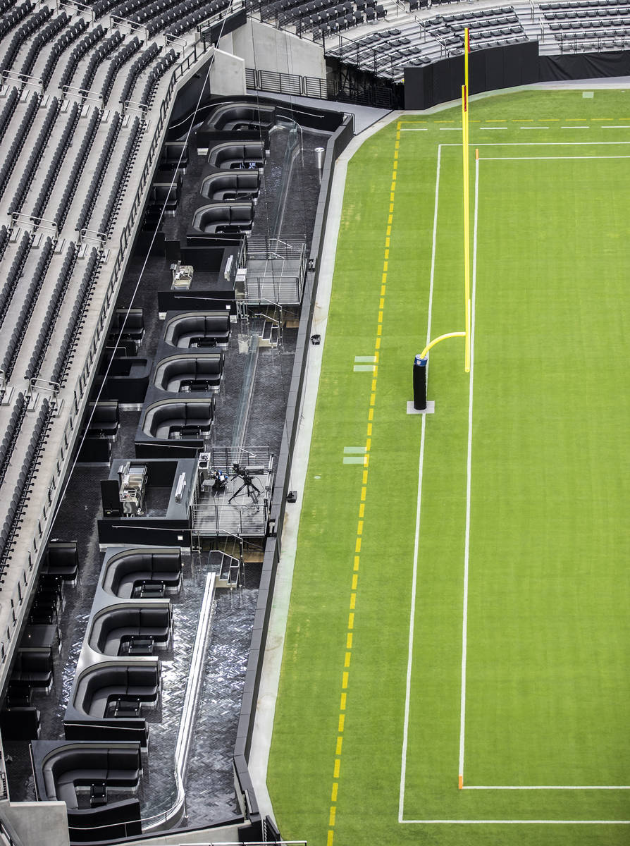 The field-levelclubseatsare photographed at Allegiant Stadium, home of the La ...