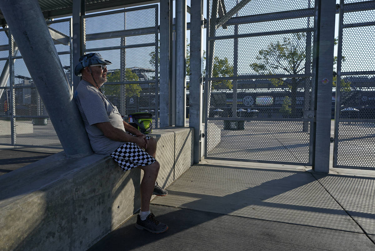 Barney Colborn sits outside of the main gate before the Indianapolis 500 auto race at Indianapo ...