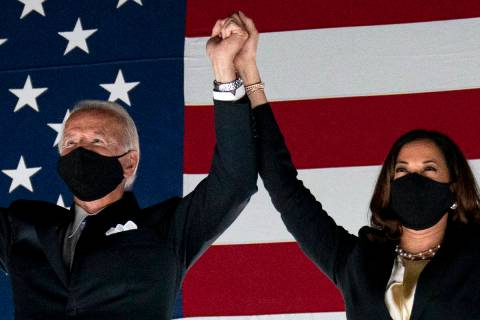 Democratic presidential candidate former Vice President Joe Biden and his running mate Sen. Kam ...