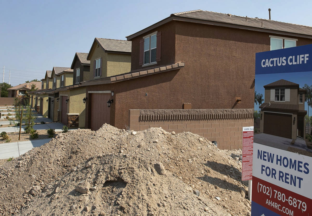 A single-family-housing rental project called Cactus Cliff on the north side of E. Cactus Avenu ...