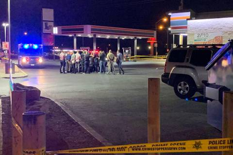 Metropolitan Police Department homicide detectives were called to the 7-Eleven at 4395 N. Las V ...