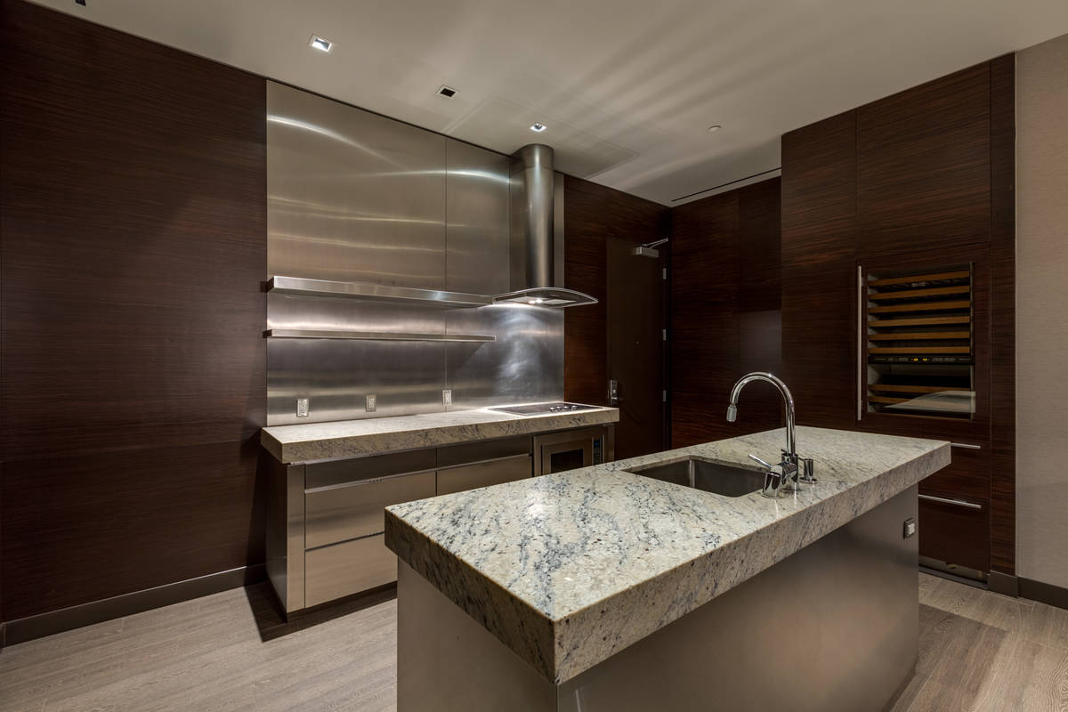 The kitchen features double islands. (Luxury Estates International)
