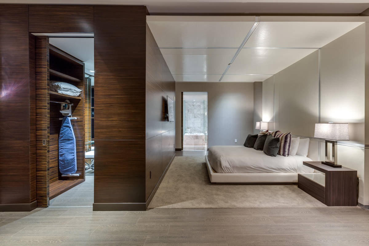 One of the two master suites in the penthouse. (Luxury Estates International)