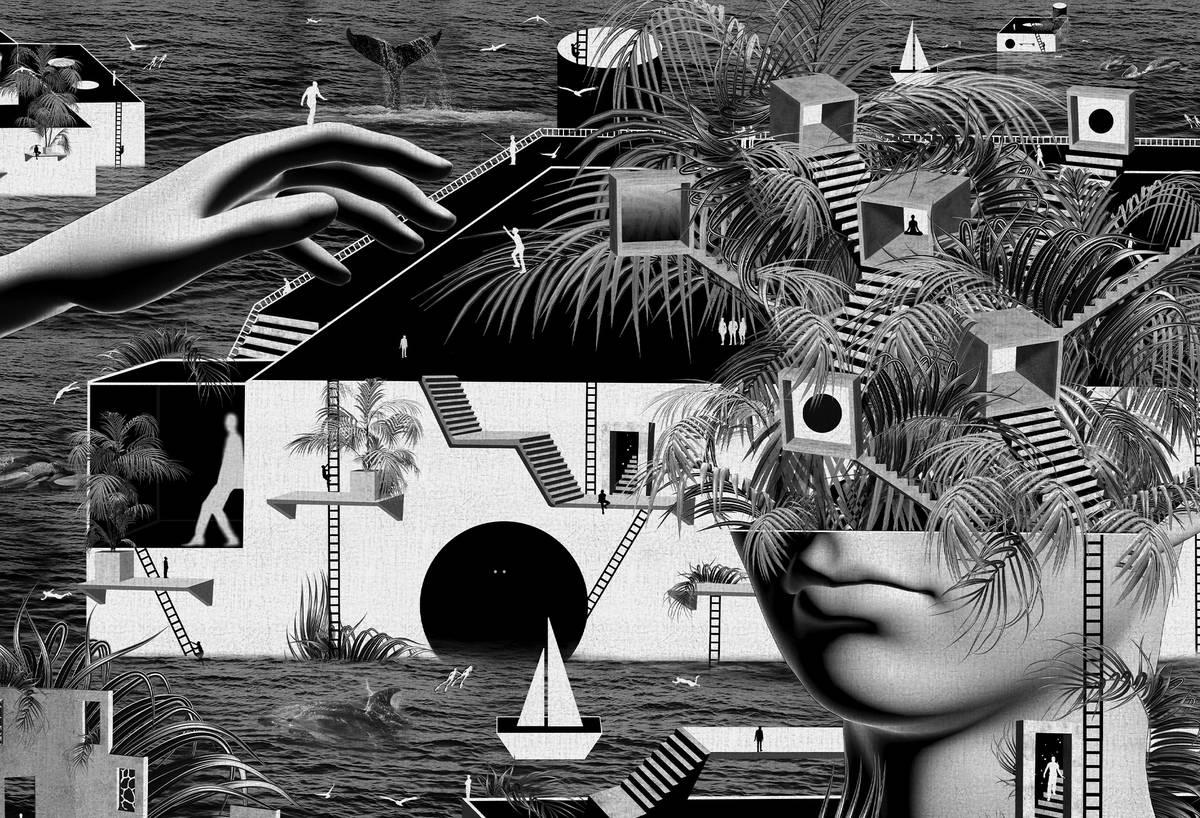 """Fern Head"" by Camila Magrane. (Downtown Grand)"
