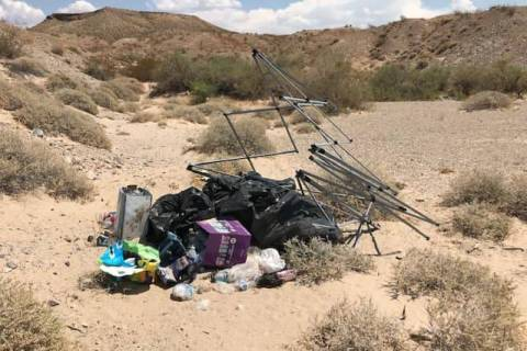 Trash is seen at Lake Mead National Recreation Area (NPS/Dolly Sanchez via Facebook)