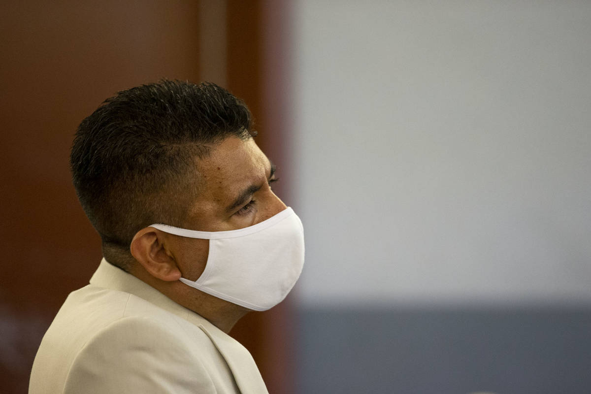 Adolfo Orozco, owner of the Alpine Motel apartments, listens to a witness speak in a preliminar ...