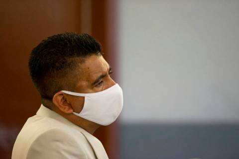 Adolfo Orozco, owner of the Alpine Motel Apartments, listens to a witness speak during a prelim ...