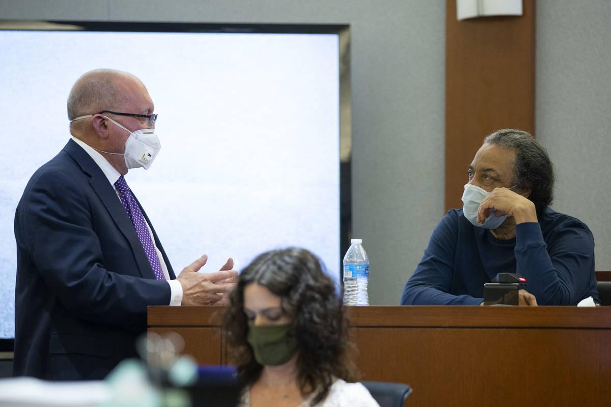 Attorney Dominic Gentile, who is representing Adolfo Orozco in the Alpine fire case, questions ...