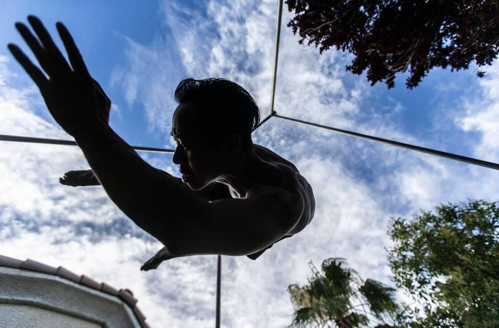 Tristan Jih, an aerialist with