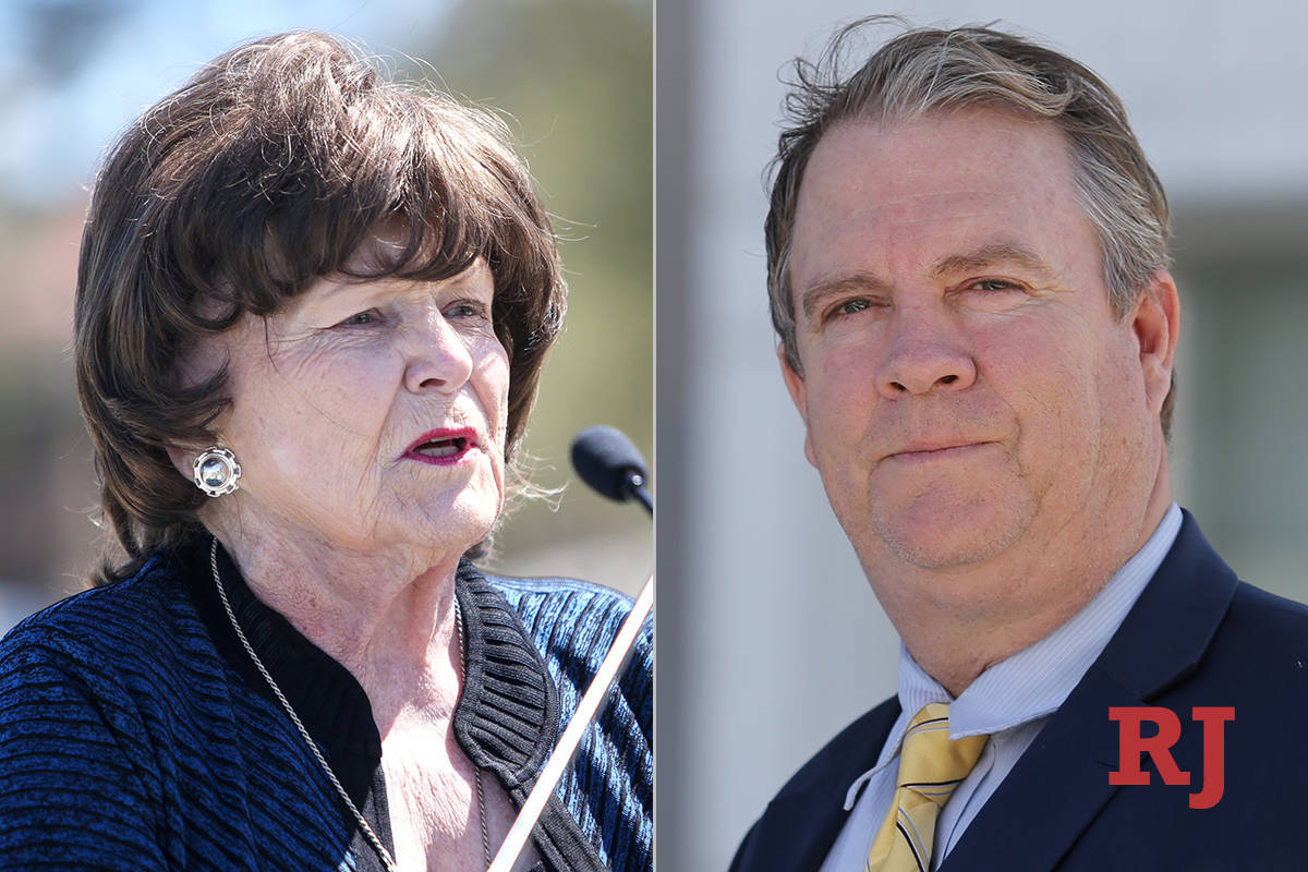 Lois Tarkanian and Bret Whipple, candidates for Board of Regents, District 2 (Las Vegas Review- ...