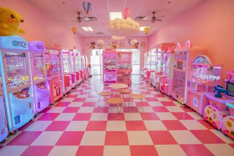 Pink Wa Wa, a new Japanese-style arcade, opened in the Rainbow Shopping Center in Las Vegas. (E ...