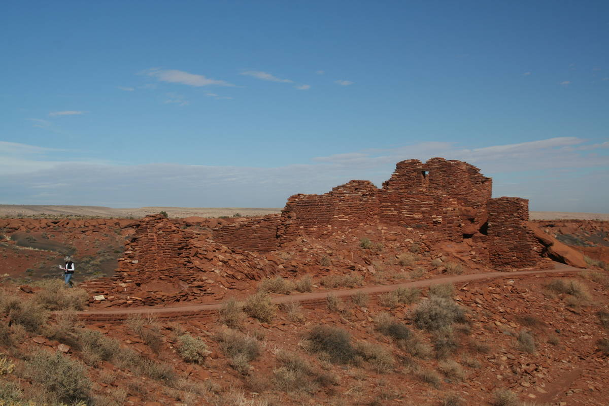 Wupatki National Monument encompasses about 35,000 acres and is home to about 2,500 documented ...