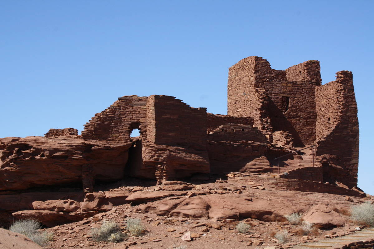 Wukoki Pueblo, one of the best preserved pueblos in the park was most likely a home for two to ...