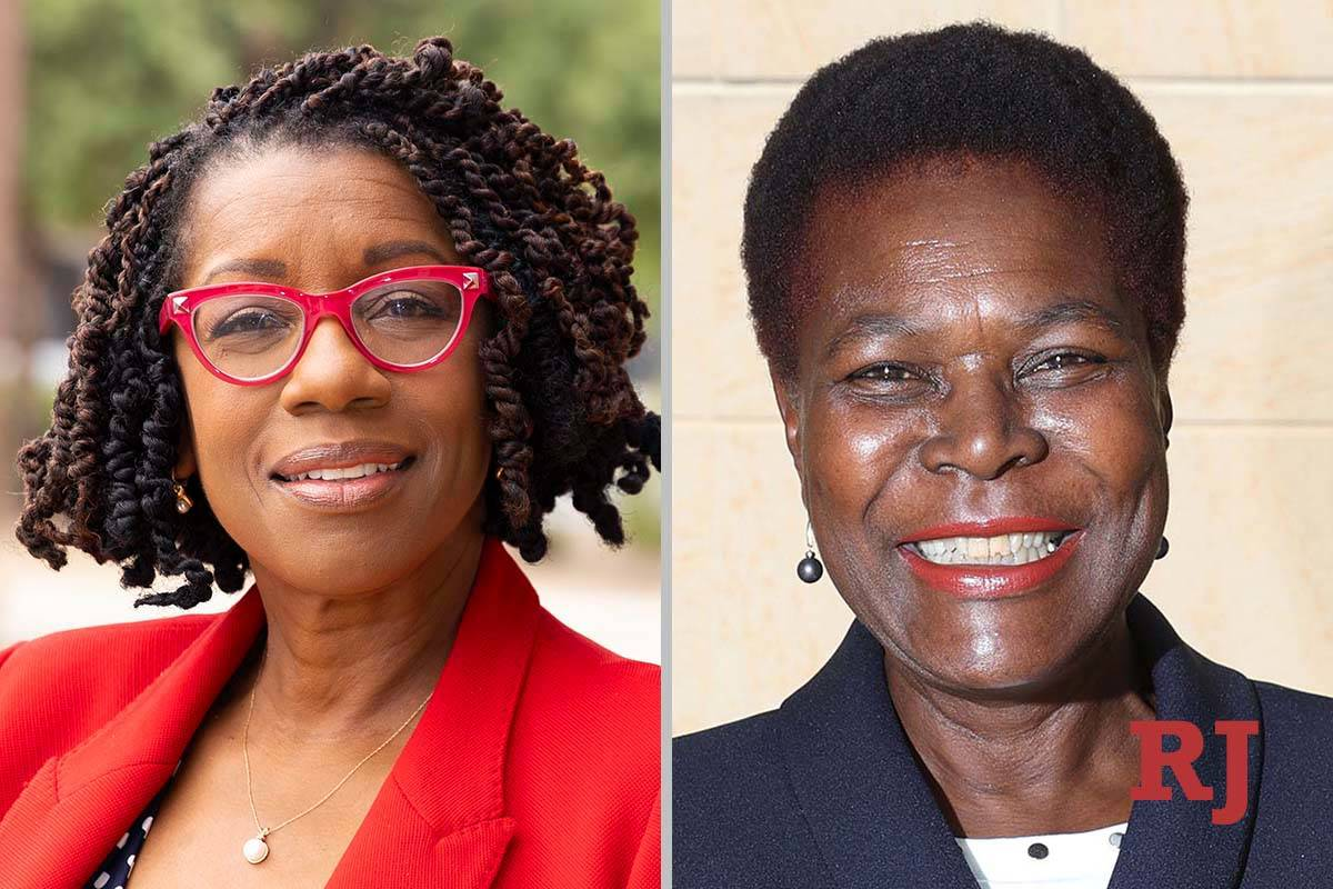 Shondra Summers-Armstrong, left, and Katie Duncan, candidates for Nevada Assembly Dis ...