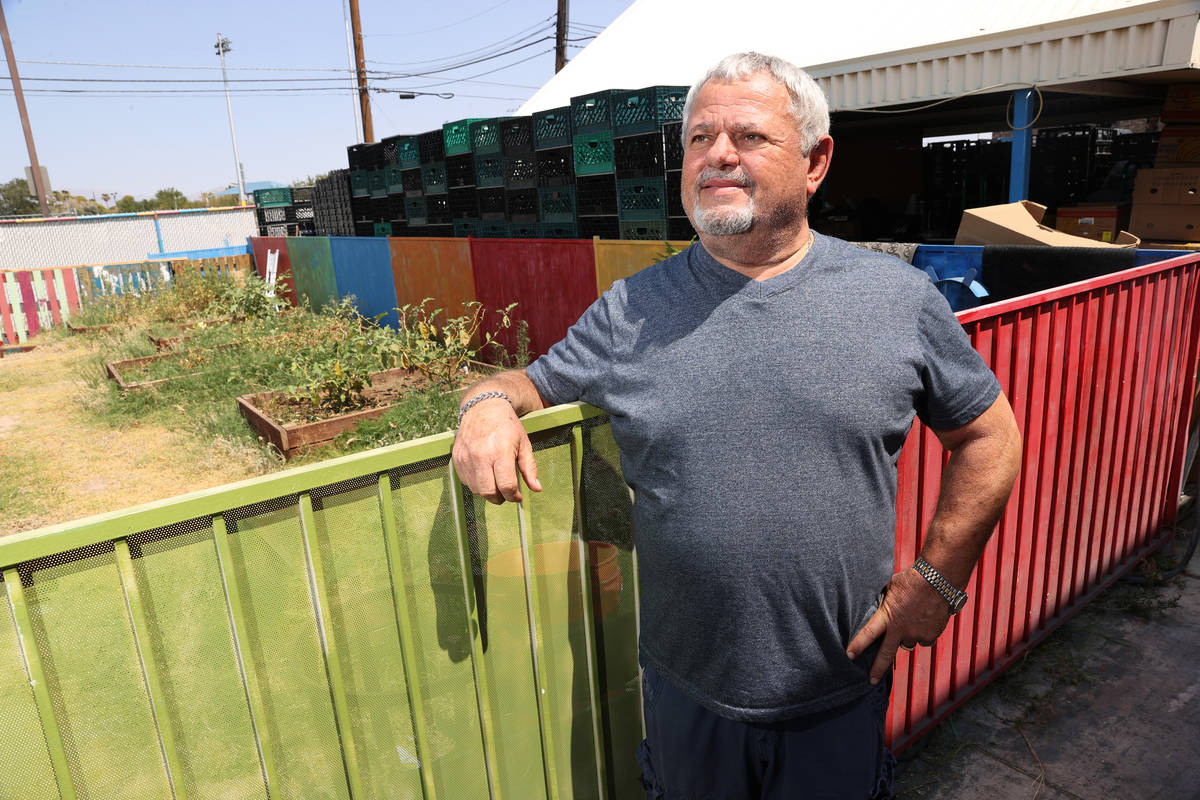 Vic Caruso, director of the City Impact Center food pantry in Las Vegas, poses for a portrait w ...