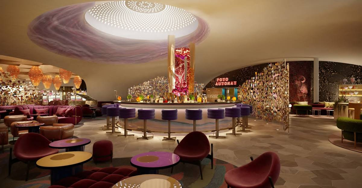 A rendering of The Bar at Commons Club. (Virgin Hotels Las Vegas)