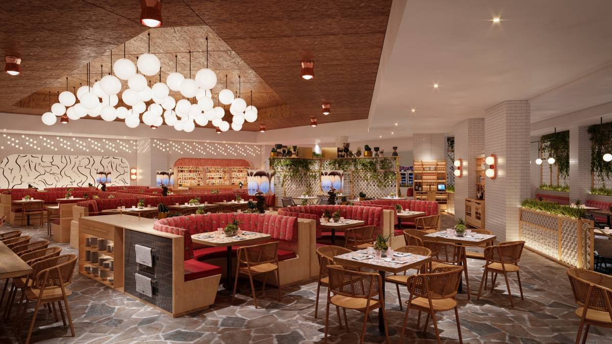 A rendering of The Kitchen at Commons Club, planned for the new Virgin Hotels Las Vegas. (Virgi ...