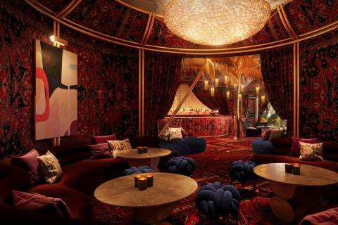 A rendering of The Shag Room at Commons Club, planned for the new Virgin Hotels Las Vegas. (Vir ...