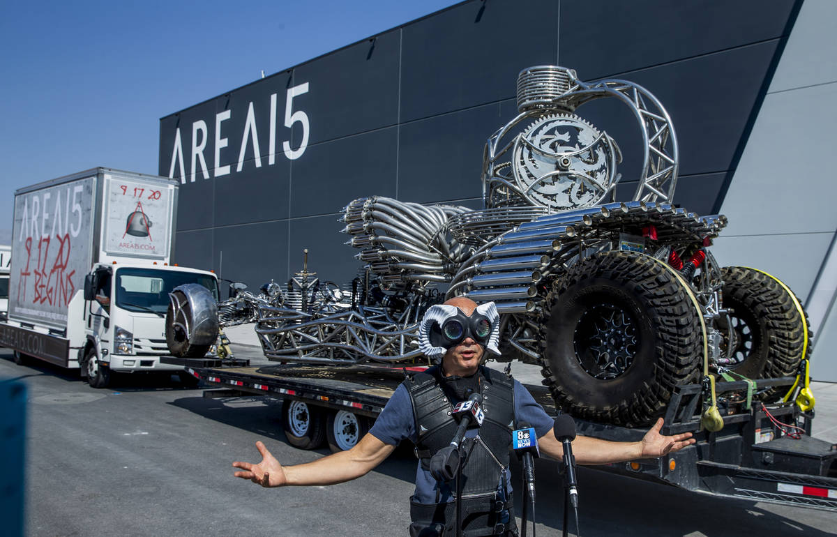 Area15 director of content Chris Wink is one hand there to help promote the caravan having arri ...