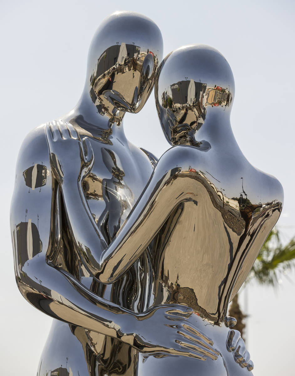 """Art piece """"In Every Lifetime I Will Find You"""" by Michael Benisty at Area15's Art Island outdoor ..."""